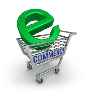 E-commerce 3D icon , isolated on white