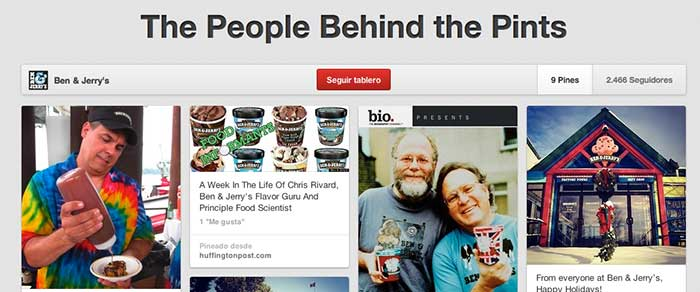 Ben & Jerry's Pinterest