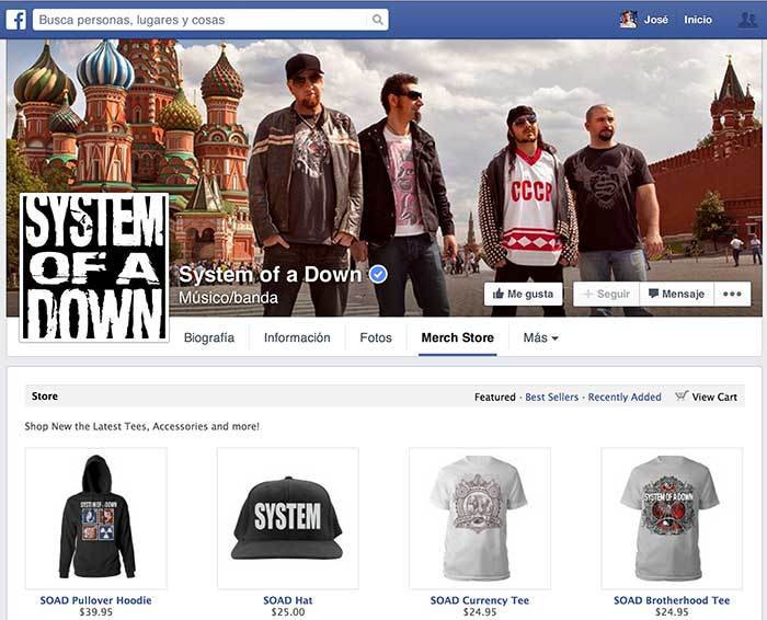 System of a Dawn Facebook Store